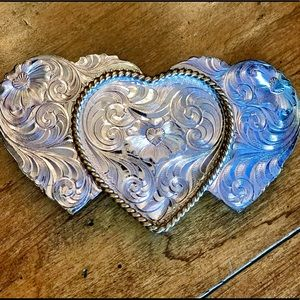 Vintage Montana Silversmith sterling silver hearts